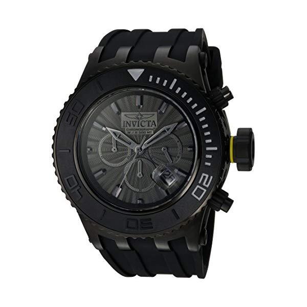 インビクタ 腕時計 INVICTA インヴィクタ 時計 サブアクア Invicta Men's 'Subaqua' Quartz Stainless Steel and Silicone Casual Watch, Color:Black (Model: 24253)