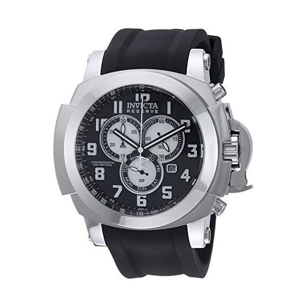 インビクタ 腕時計 INVICTA インヴィクタ 時計 リザーブ Invicta Men's 'Reserve' Quartz Stainless Steel and Silicone Casual Watch, Color:Black (Model: 22167)