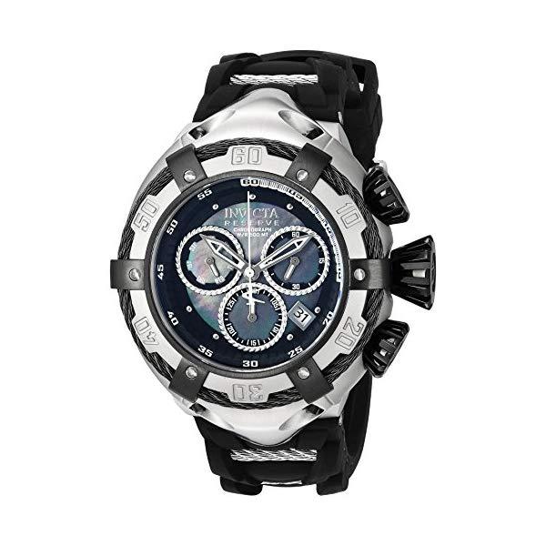 インビクタ 腕時計 INVICTA インヴィクタ 時計 ボルト Invicta Men's 'Bolt' Quartz Stainless Steel and Silicone Casual Watch, Color:Black (Model: 21351)