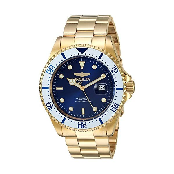 インビクタ 腕時計 INVICTA インヴィクタ 時計 プロダイバー Invicta Men's 'Pro Diver' Quartz and Stainless Steel Diving Watch, Color:Gold-Toned (Model: 23382)