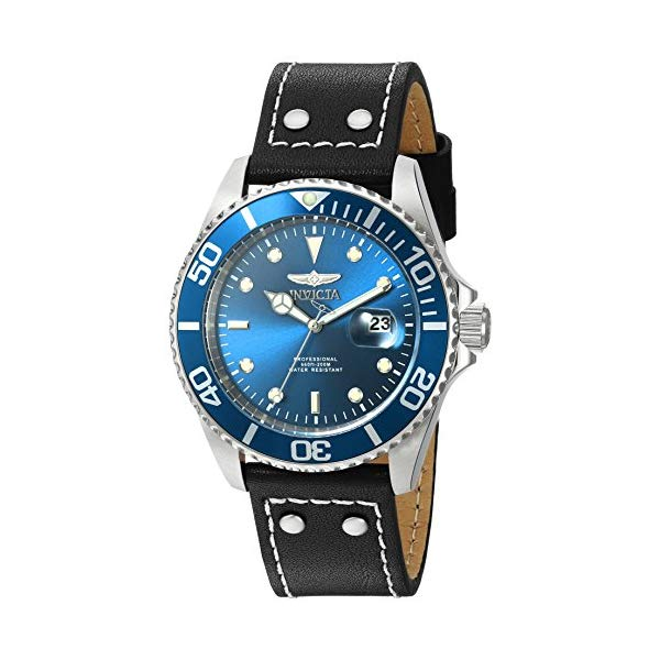 インビクタ 腕時計 INVICTA インヴィクタ 時計 プロダイバー Invicta Men's 'Pro Diver' Quartz Stainless Steel and Leather Watch, Color:Black (Model: 22068)