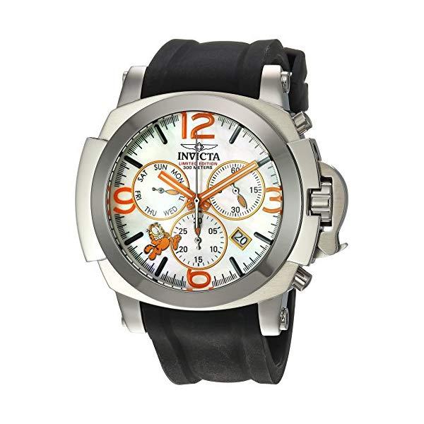 インビクタ 腕時計 INVICTA インヴィクタ 時計 ガーフィールド Invicta Men's 'Character Collection' Quartz Stainless Steel and Silicone Casual Watch, Color:Black (Model: 25004)