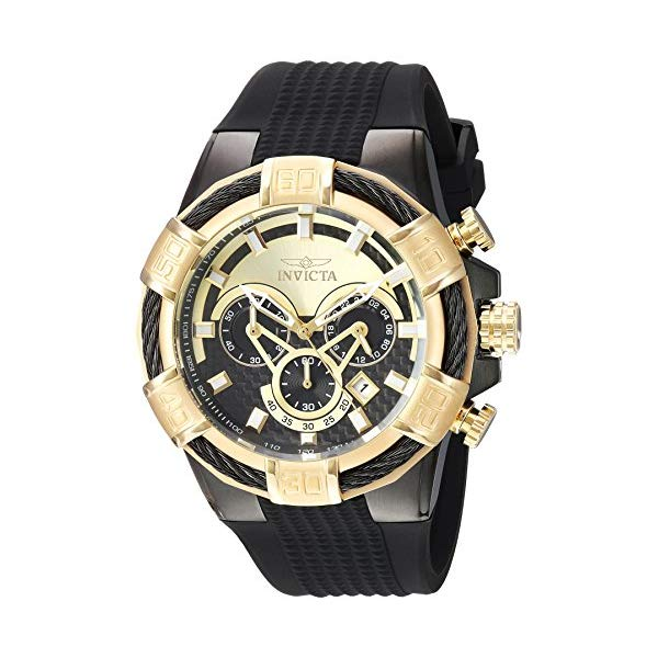 インビクタ 腕時計 INVICTA インヴィクタ 時計 Invicta Men's Quartz Stainless Steel and Silicone Casual Watch, Color:Black (Model: 24699)