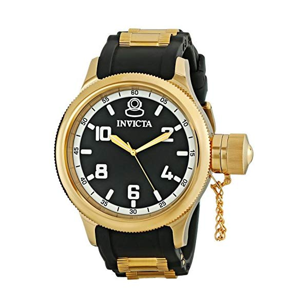 インビクタ 腕時計 INVICTA インヴィクタ 時計 ロシアンダイバー Invicta Men's Russian Diver 18k Gold Ion-Plated Stainless Steel Watch (1436)