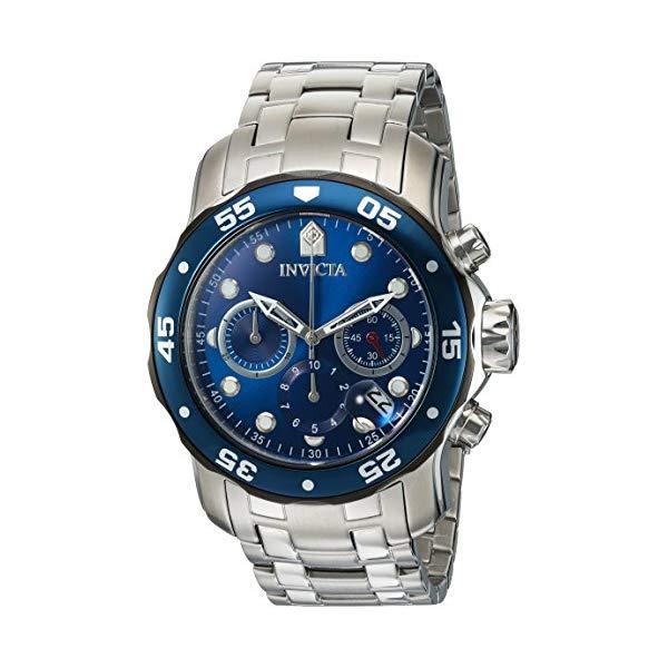 """インビクタ 腕時計 INVICTA インヴィクタ 時計 プロダイバー Invicta Men""""s """"Pro Diver"""" Quartz Stainless Steel Diving Watch, Color:Silver-Toned (Model: 21784)"""