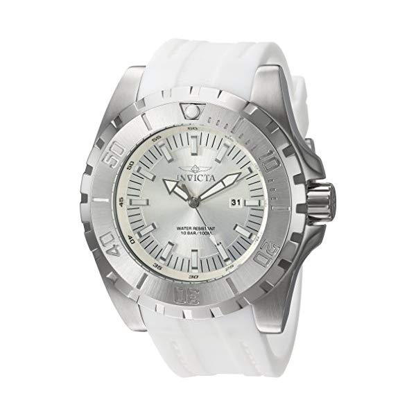 <title>インビクタ チープ 腕時計 INVICTA インヴィクタ 時計 プロダイバー Invicta Men's 'Pro Diver' Quartz Stainless Steel and Polyurethane Casual Watch Color:White Model: 23739</title>