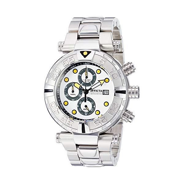 インビクタ 腕時計 INVICTA インヴィクタ 時計 Invicta Men's Quartz Stainless Steel Casual Watch, Color:Silver-Toned (Model: 24981)