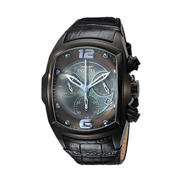 インビクタ 腕時計 INVICTA インヴィクタ 時計 ルーパー Invicta Men's 'Lupah' Quartz Stainless Steel and Leather Casual Watch, Color:Black (Model: 24354)