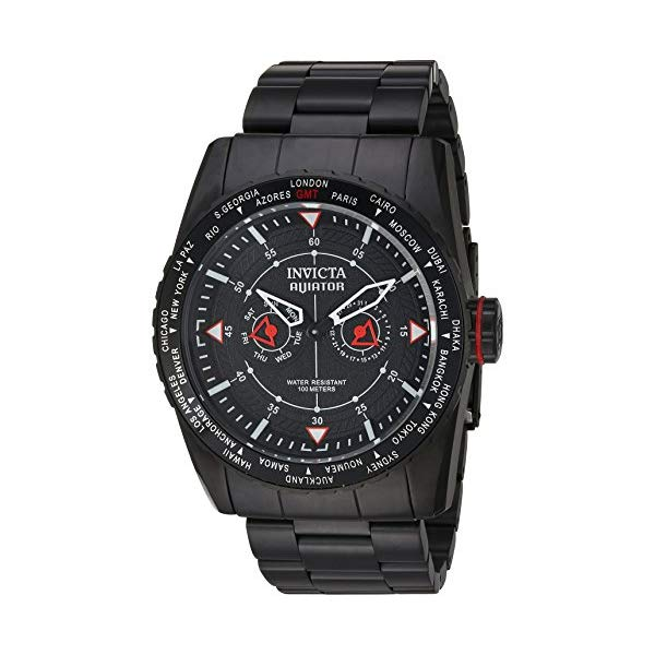 インビクタ 腕時計 INVICTA インヴィクタ 時計 アビエーター Invicta Men's 'Aviator' Quartz Stainless Steel Casual Watch, Color Black (Model: 22985)