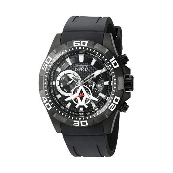 インビクタ 腕時計 INVICTA インヴィクタ 時計 アビエーター Invicta Men's 'Aviator' Quartz Stainless Steel and Polyurethane Watch, Color:Black (Model: 21741)