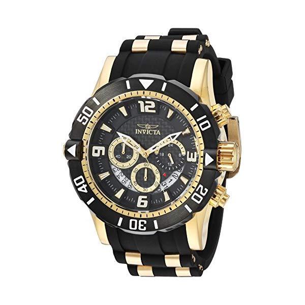インビクタ 腕時計 INVICTA インヴィクタ 時計 プロダイバー Invicta Men's 'Pro Diver' Quartz Stainless Steel and Polyurethane Diving Watch, Color:Two Tone (Model: 23702)
