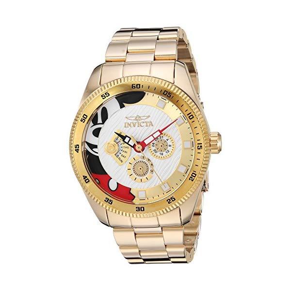 インビクタ 腕時計 INVICTA インヴィクタ 時計 ディズニー リミテッド エディション ミッキー Invicta Men's 'Disney Limited Edition' Quartz Stainless Steel Casual Watch, Color:Gold-Toned (Model: 25457)