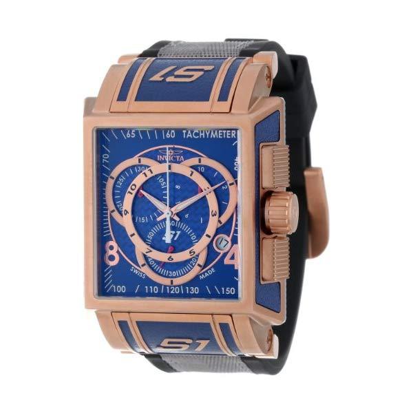 インビクタ 腕時計 INVICTA インヴィクタ 時計 Invicta Men's 11689 S1 Chronograph Blue Dial Black Polyurethane and Grey Nylon Watch