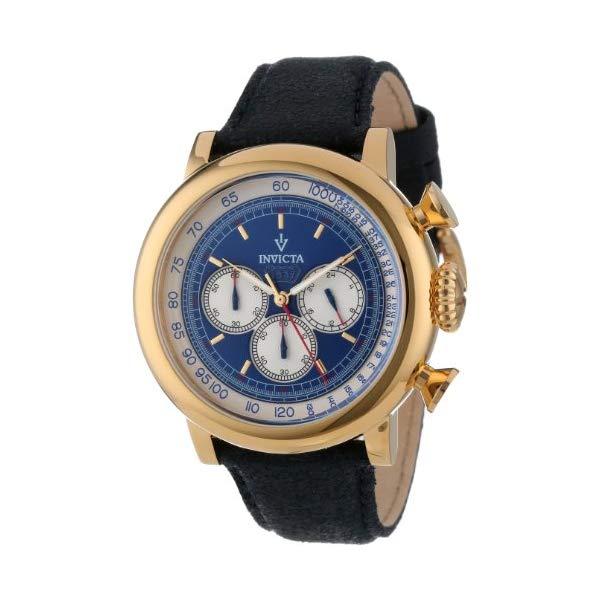 インビクタ 腕時計 INVICTA インヴィクタ 時計 ビンテージ Invicta Men's 13057 Vintage Chronograph Blue Dial Dark Blue Leather Watch