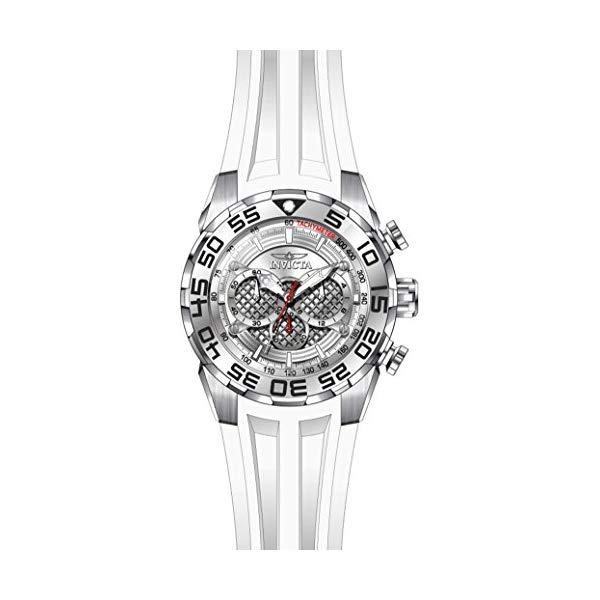 インビクタ 腕時計 INVICTA インヴィクタ 時計 スピードウェイ Invicta Men's 'Speedway' Quartz Stainless Steel and Silicone Casual Watch, Color White (Model: 26299)