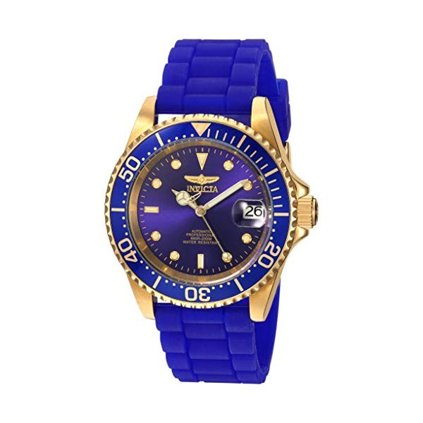 インビクタ 腕時計 INVICTA インヴィクタ 時計 プロダイバー Invicta Men's 'Pro Diver' Automatic Gold-Tone and Silicone Casual Watch, Color:Blue (Model: 23682)