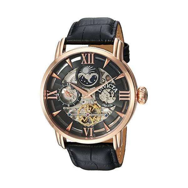 インビクタ 腕時計 INVICTA インヴィクタ 時計 オブジェ D アート Invicta Men's 'Objet d'Art' Automatic Stainless Steel and Leather Casual Watch, Color Black (Model: 22653)