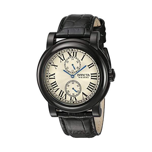 インビクタ 腕時計 INVICTA インヴィクタ 時計 フォース Invicta Men's I-Force Black Leather Band Steel Case Quartz Silver-Tone Dial Analog Watch 22257