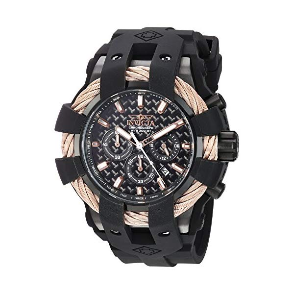 インビクタ 腕時計 INVICTA インヴィクタ 時計 ボルト Invicta Men's 'Bolt' Quartz Stainless Steel and Silicone Casual Watch, Color:Black (Model: 23867)