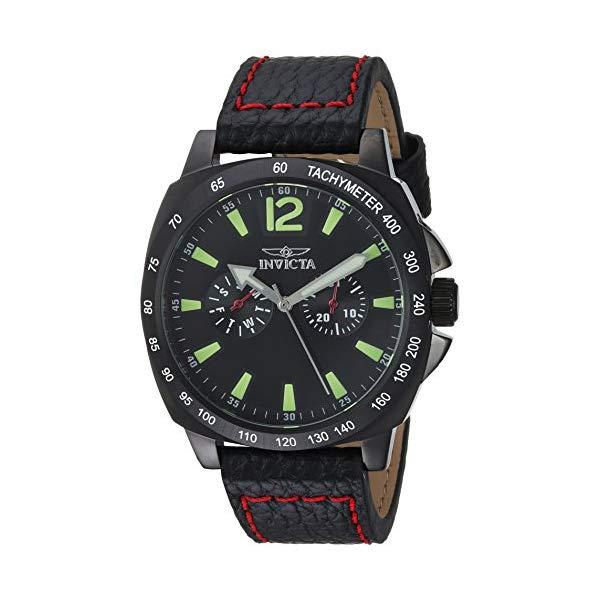インビクタ 腕時計 INVICTA インヴィクタ 時計 スペシャリティ Invicta Men's 'Specialty' Quartz Stainless Steel and Leather Casual Watch, Color:Black (Model: 0857)