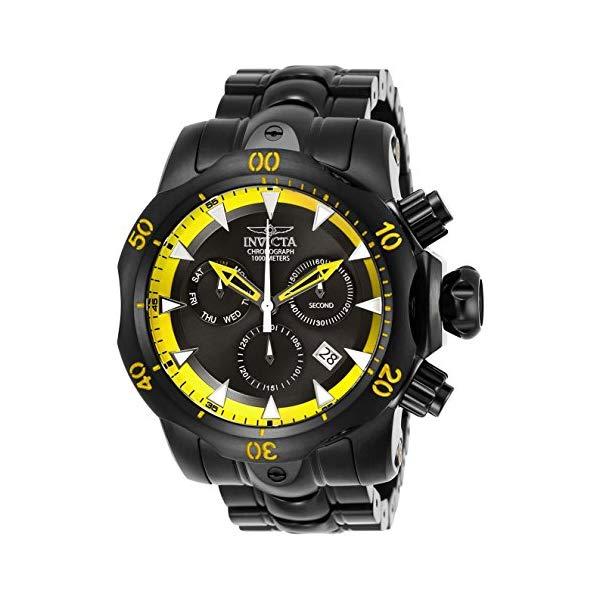 インビクタ 腕時計 INVICTA インヴィクタ 時計 ベノム Invicta Men's 26637 Venom Quartz Chronograph Black, Yellow Dial Watch