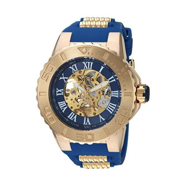 インビクタ 腕時計 INVICTA インヴィクタ 時計 プロダイバー Invicta Men's 'Pro Diver' Automatic Gold-Tone and Stainless Steel Casual Watch, Color Blue (Model: 24741)