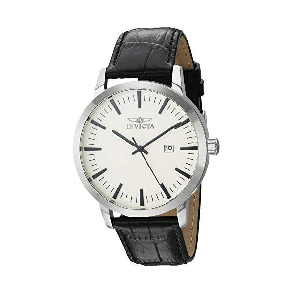 インビクタ 腕時計 INVICTA インヴィクタ 時計 スペシャリティ Invicta Men's 'Specialty' Quartz Stainless Steel and Leather Casual Watch, Color:Black (Model: 22314)