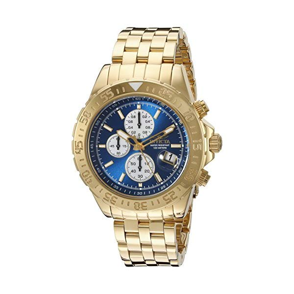 "インビクタ 腕時計 INVICTA インヴィクタ 時計 アビエーター Invicta Men""s 18855 Aviator Analog Display Japanese Quartz Gold Watch"