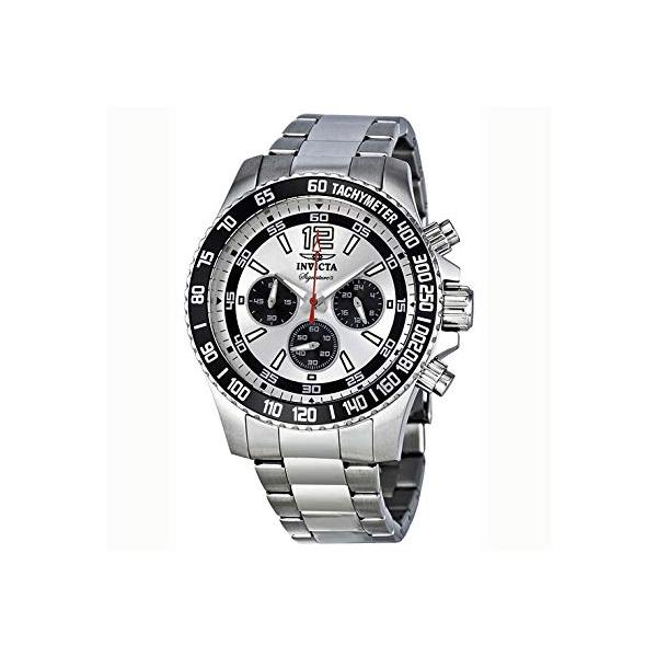 インビクタ 腕時計 INVICTA インヴィクタ 時計 シグネチャー Invicta Signature II Chronograph Silver Dial Mens Watch 7405
