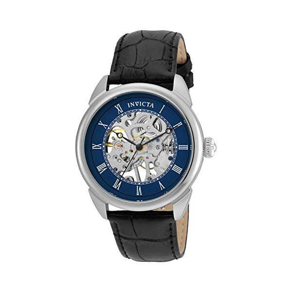 インビクタ 腕時計 INVICTA インヴィクタ 時計 スペシャリティ Invicta Men's 'Specialty' Mechanical Hand Wind Stainless Steel and Leather Casual Watch, Color Black (Model: 23534)