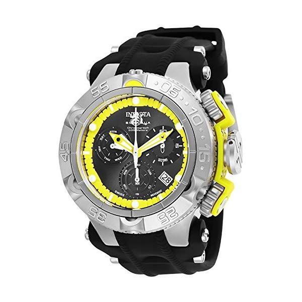 インビクタ 腕時計 INVICTA インヴィクタ 時計 サブアクア Invicta Men's 'Subaqua' Quartz Stainless Steel and Silicone Watch, Color Black (Model: 25350)