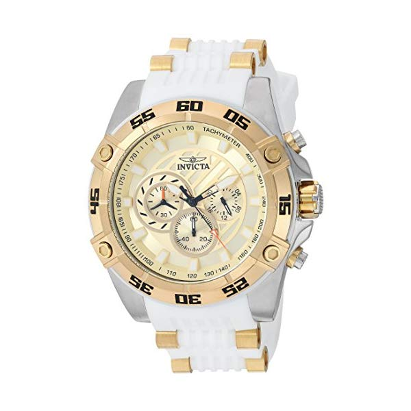 インビクタ 腕時計 INVICTA インヴィクタ 時計 スピードウェイ Invicta Men's 'Speedway' Quartz Stainless Steel and Silicone Casual Watch, Color White (Model: 25510)