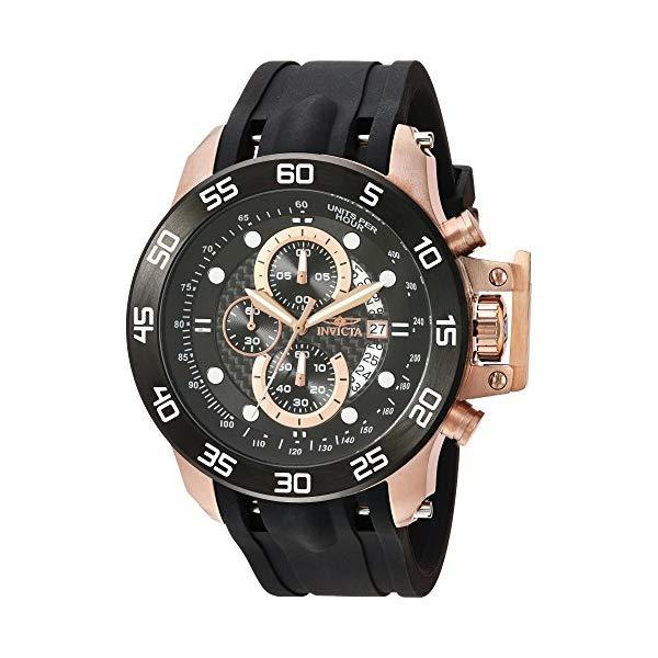 インビクタ 腕時計 INVICTA インヴィクタ 時計 フォース Invicta Men's 'I-Force' Quartz Stainless Steel and Polyurethane Casual Watch, Color:Black (Model: 19254)