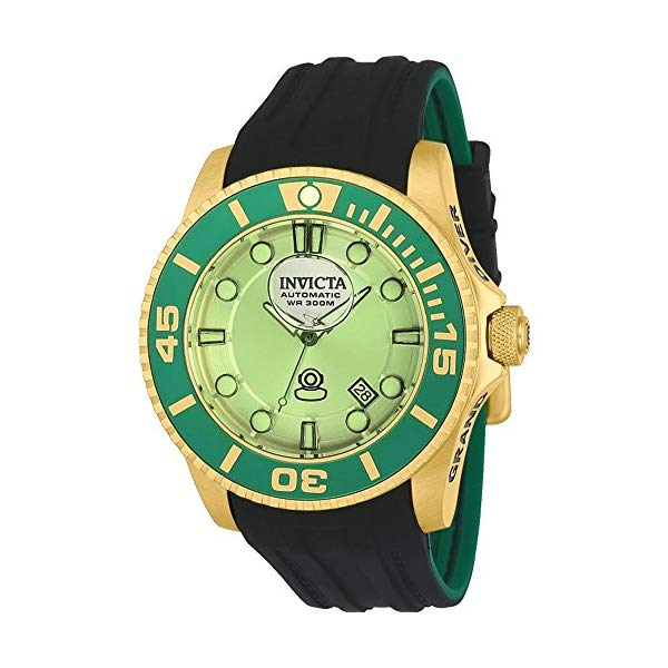 インビクタ 腕時計 INVICTA インヴィクタ 時計 グランドドライバー Invicta 22992 Men's 47mm Grand Diver Gen II Liquid Green Dial Automatic Black Silicone Strap Watch
