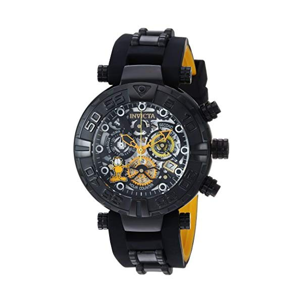 "インビクタ 腕時計 INVICTA インヴィクタ 時計 ガーフィールド Invicta Men""s ""Garfield"" Quartz Stainless Steel and Silicone Casual Watch, Color:Black (Model: 24880)"