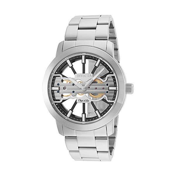 インビクタ 腕時計 INVICTA インヴィクタ 時計 オブジェ D アート Invicta Men's 25269 Objet D Art Mechanical 2 Hand Black, Silver Dial Watch