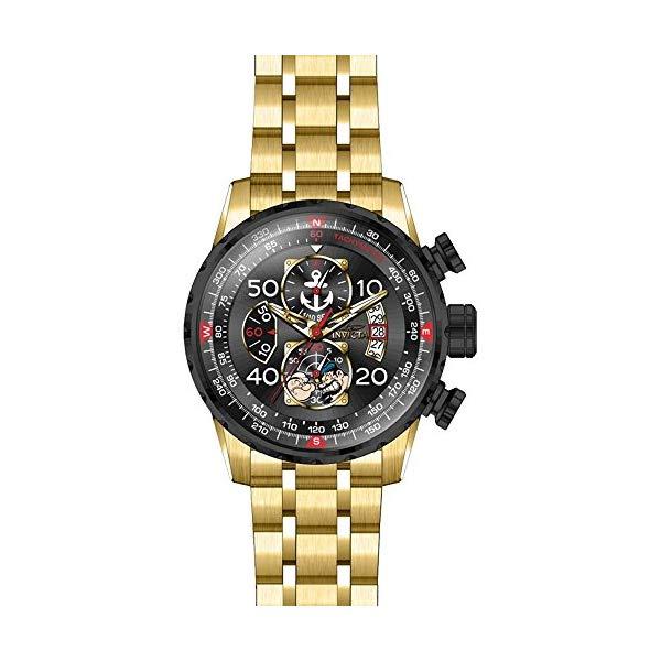 インビクタ 腕時計 INVICTA インヴィクタ 時計 キャラクターコレクション ポパイ Invicta Men's 'Character Collection' Quartz and Stainless-Steel Casual Watch, Color:Gold-Toned (Model: 25152)