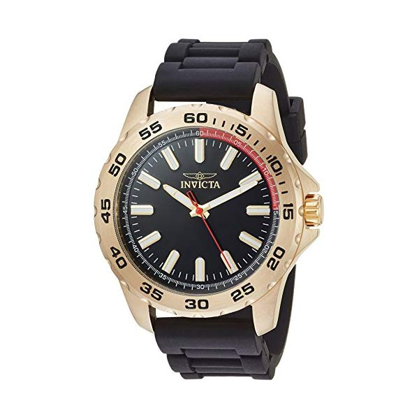 インビクタ 腕時計 INVICTA インヴィクタ 時計 プロダイバー Invicta Men's 'Pro Diver' Quartz Stainless Steel and Silicone Casual Watch, Color Black (Model: 21941)
