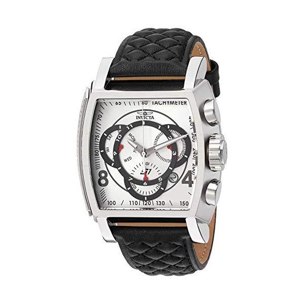 インビクタ 腕時計 INVICTA インヴィクタ S1ラリー メンズ 男性用 27918 Invicta Men's S1 Rally Stainless Steel Quartz Watch with Leather-Synthetic Strap, Black, 26 (Model: 27918)