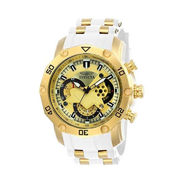 インビクタ 腕時計 INVICTA インヴィクタ プロダイバー メンズ 男性用 23424 Invicta Men's Pro Diver Stainless Steel Quartz Watch with Silicone Strap, White, 26