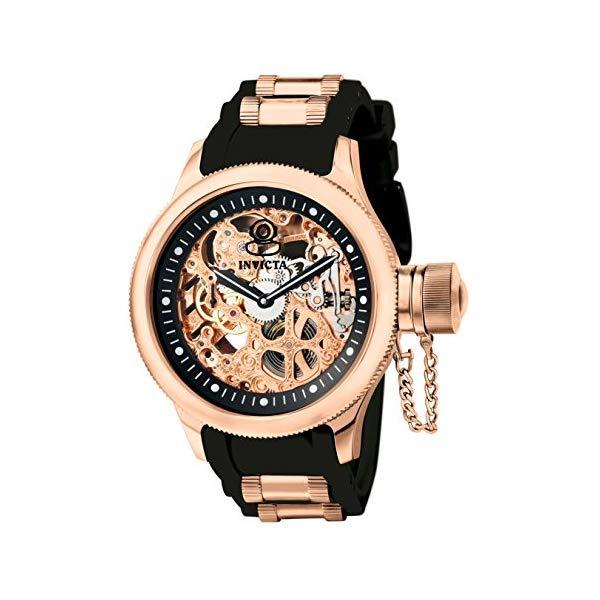 インビクタ 腕時計 INVICTA インヴィクタ ロシアンダイバー メンズ 男性用 1090 Invicta Men's 1090 Russian Diver Rose Gold-tone Stainless Steel Skeleton Watch