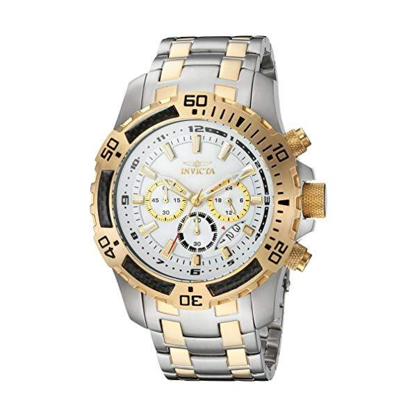 インビクタ 腕時計 INVICTA インヴィクタ プロダイバー メンズ 男性用 24859 Invicta Men's Pro Diver Quartz Watch with Stainless-Steel Strap, Two Tone, 18.5 (Model: 24859)