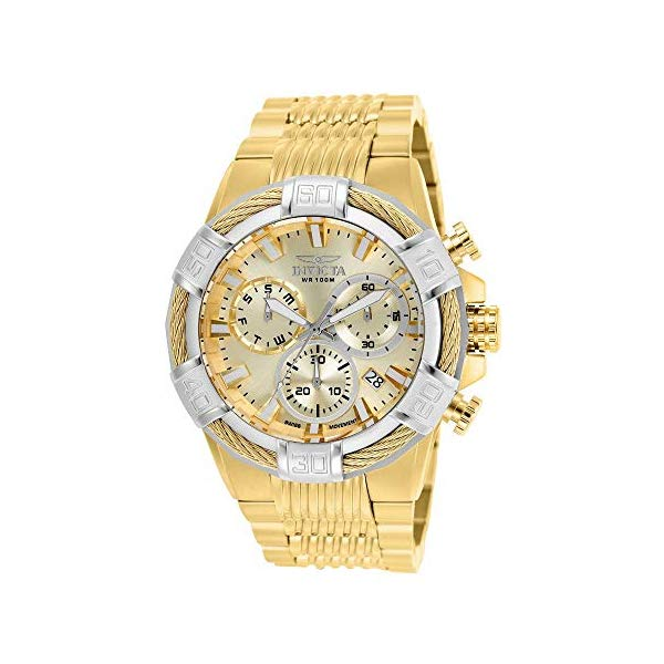 インビクタ 腕時計 INVICTA インヴィクタ ボルト メンズ 男性用 25868 Invicta Men's Bolt Quartz Watch with Stainless-Steel Strap, Gold, 16 (Model: 25868)