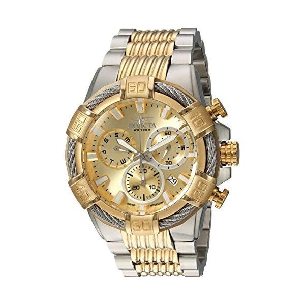 インビクタ 腕時計 INVICTA インヴィクタ ボルト メンズ 男性用 25864 Invicta Men's Bolt Quartz Watch with Two-Tone-Stainless-Steel Strap, 16 (Model: 25864 & 25513)