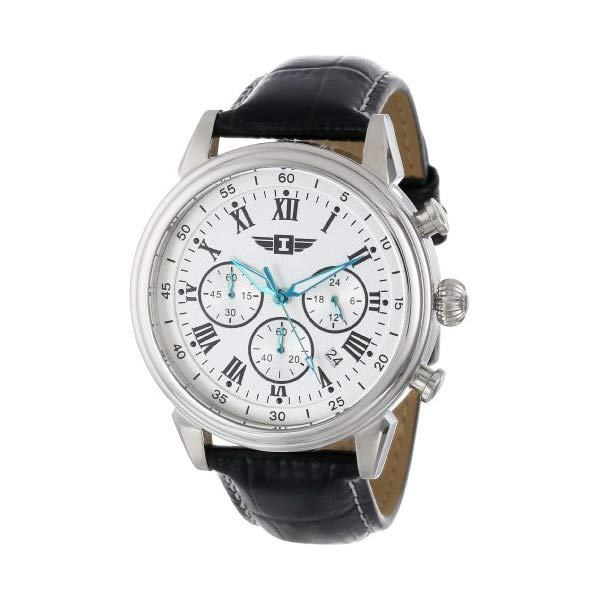 インビクタ 腕時計 INVICTA インヴィクタ メンズ 男性用 90242 I By Invicta Men's 90242-002 Stainless Steel Watch with Black Leather Band