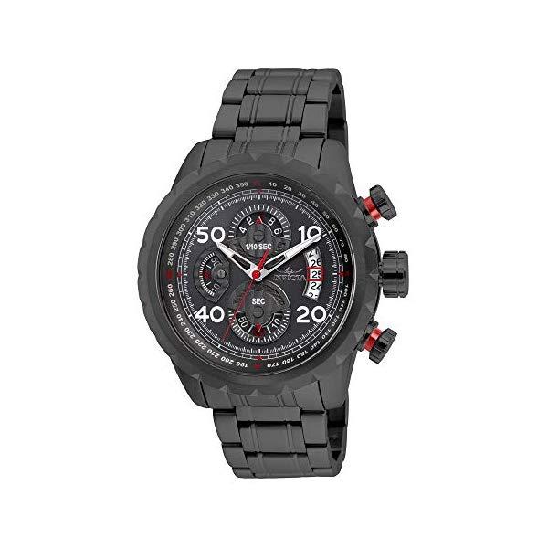 インビクタ 腕時計 INVICTA インヴィクタ アビエーター メンズ 男性用 28158 Invicta Men's Aviator Quartz Watch with Stainless Steel Strap, Gunmetal, 24 (Model: 28158)