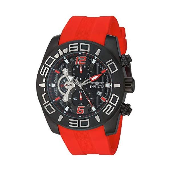 インビクタ 腕時計 INVICTA インヴィクタ プロダイバー メンズ 男性用 22810 Invicta Men's Pro Diver Stainless Steel Quartz Watch with Silicone Strap, red, 25 (Model: 22810)