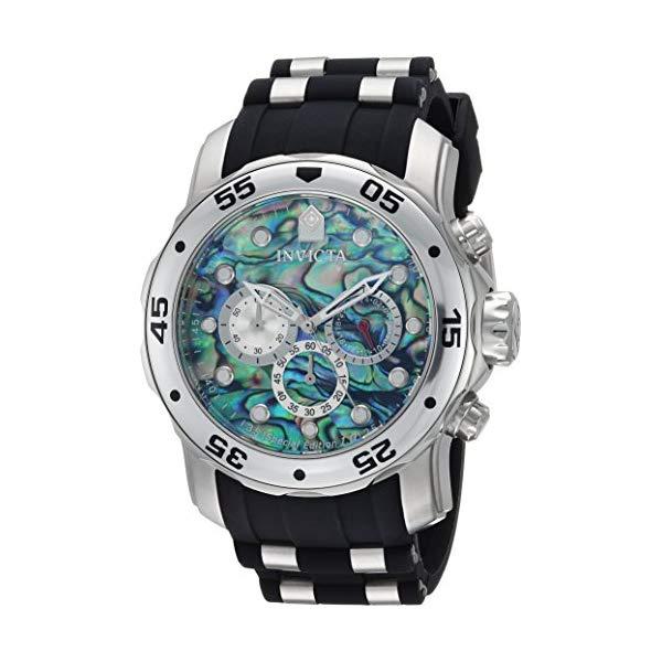 インビクタ 腕時計 INVICTA インヴィクタ プロダイバー メンズ 男性用 24838 Invicta Men's Pro Diver Stainless Steel Quartz Watch with Polyurethane Strap, Black, 26 (Model: 24838)