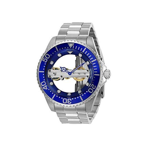 インビクタ 腕時計 INVICTA インヴィクタ プロダイバー メンズ 男性用 24693 Invicta Men's Pro Diver Mechanical-Hand-Wind Watch with Stainless-Steel Strap, Silver, 22 (Model: 24693)