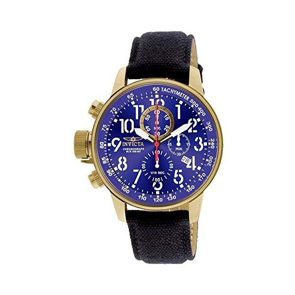 インビクタ 腕時計 INVICTA インヴィクタ フォース メンズ 男性用 1516 Invicta Men's 1516 I Force Collection 18k Gold Ion-Plated Stainless Steel and Cloth Watch